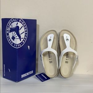 Authentic Birkenstock gizeh bs white 40